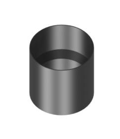 Längenelement 150mm mit Kondensatring (ohne Einzug)