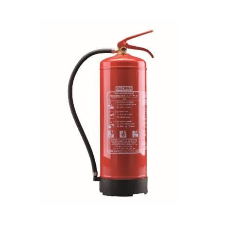 Feuerlöscher Gloria PD 12 GA mit Wandhalter