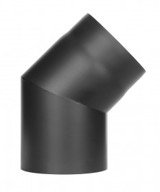 Ofenrohr - Winkel 45° ohne Tür schwarz - Jeremias Ferro-Lux