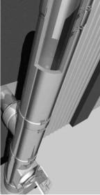 Edelstahlschornstein Bausatz Ø 150 mm - doppelwandig - Raab DW-FU