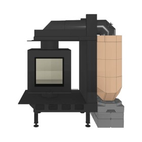 Heizeinsatz Brunner DF 33 Doppelglasscheibe mit MSS, 9 kW