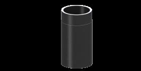 Ofenrohr - doppelwandig - Längenelement 330 mm schwarz - Jeremias Iso-Line