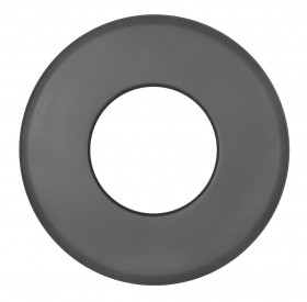 Ofenrohr - Wandrosette groß 85 mm schwarz - Jeremias Ferro-Lux