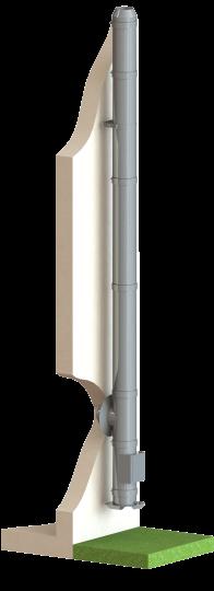 Edelstahlschornstein doppelwandig - Höhe / Länge 3,0m - Durchmesser 150 mm Bausatz - Dinak DW5