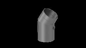 Ofenrohr - doppelwandig - Winkel 30° mit Tür gussgrau - Jeremias Iso-Line
