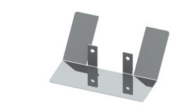 Wasserableitbleche für Wandstützen - Typ 2