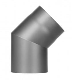 Ofenrohr - Winkel 45° ohne Tür gussgrau - Jeremias Ferro-Lux