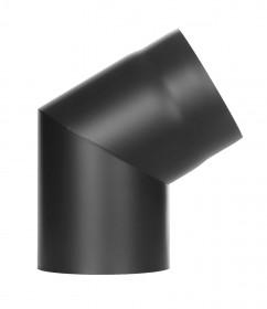 Ofenrohr - Winkel 60° ohne Tür schwarz - Jeremias Ferro-Lux