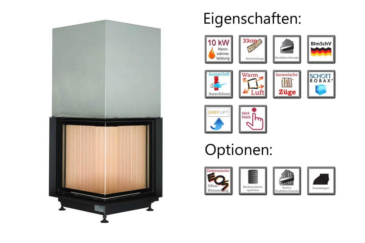 brunner eckkamin 57 52 52 dreht r 10kw kamineinsatz schornstein fachhandel. Black Bedroom Furniture Sets. Home Design Ideas