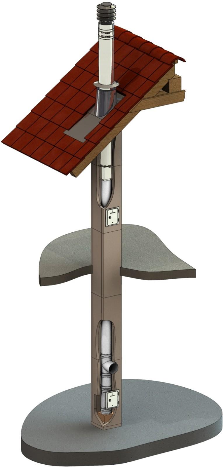 leichtbauschornstein f90 raumluftunabh ngig 160 mm schornstein fachhandel. Black Bedroom Furniture Sets. Home Design Ideas