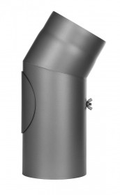 Ofenrohr - Winkel 30° mit Tür gussgrau - Jeremias Ferro-Lux