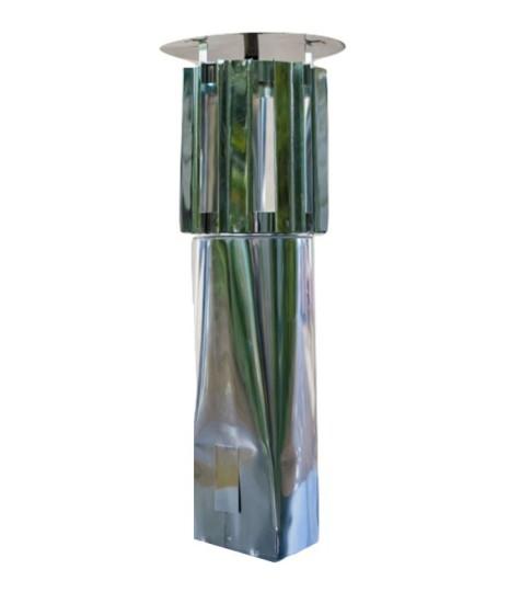 Schornsteinaufsatz einwandig - Schlitz Haube - 330 mm Höhe