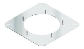Quadratische Schraubplatte für Rauchsauger Diajekt (S) - Kutzner & Weber