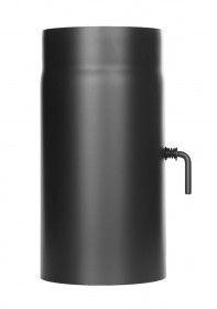 Längenelement 300 mm mit Drosselklappe schwarz - Ofenrohr - Jeremias Ferro-Lux