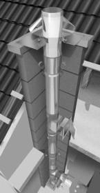Edelstahlschornstein Bausatz Ø 130 mm - einwandig - Raab EW-FU