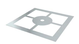 Auflageplatte für Kondensatschale FULS94B mit Hinterlüftung